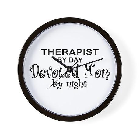 Therapist Devoted Mom Wall Clock