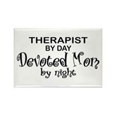 Therapist Devoted Mom Rectangle Magnet