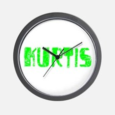 Kurtis Faded (Green) Wall Clock