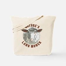 Sheep Lawn Mower Tote Bag