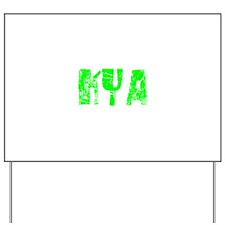 Kya Faded (Green) Yard Sign