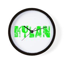 Kylan Faded (Green) Wall Clock