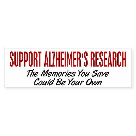 Support Alzheimer's Research 1 Bumper Sticker