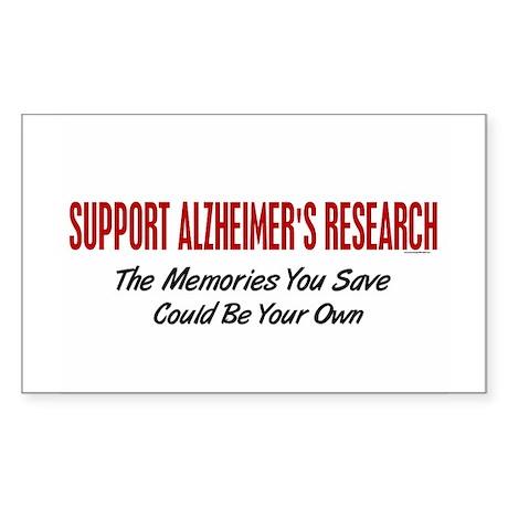 Support Alzheimer's Research 1 Rectangle Sticker