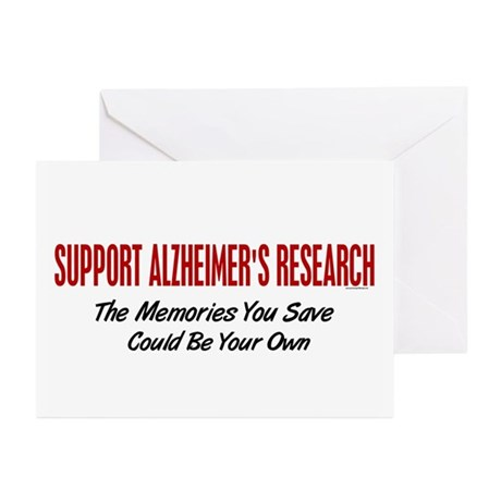 Support Alzheimer's Research 1 Greeting Cards (Pk