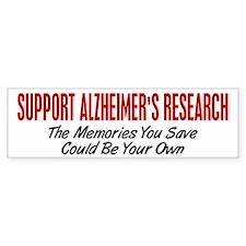 Support Alzheimer's Research 1 Bumper Bumper Sticker