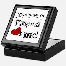 Someone in Virginia Keepsake Box