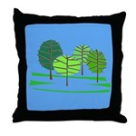 Groovy Trees Throw Pillow