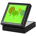 Groovy Green Trees Keepsake Box