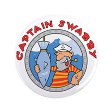 """Captain Swabby 3.5"""" Button (100 pack)"""