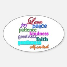Fruit of the Spirit Oval Decal