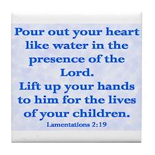 Funny Children bible Tile Coaster
