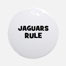 Jaguars rule Ornament (Round)