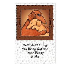 Dachshund Mom Hug Postcards (Package of 8)