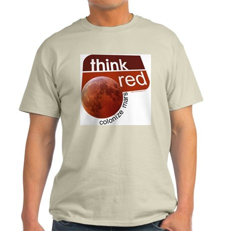 Think Red Colonize Mars Light T-Shirt