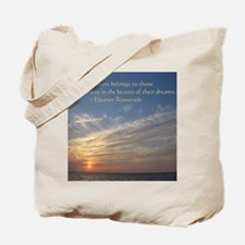 Cute Eleanor roosevelt quote tea Tote Bag