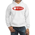 I Love Female Fire Fighters Hooded Sweatshirt