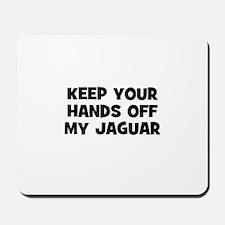 keep your hands off my Jaguar Mousepad