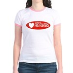 I Love Female Fire Fighters Jr. Ringer T-Shirt