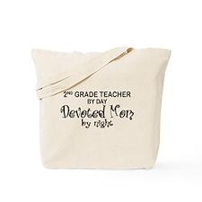 2nd Grade Teacher Devoted Mom Tote Bag