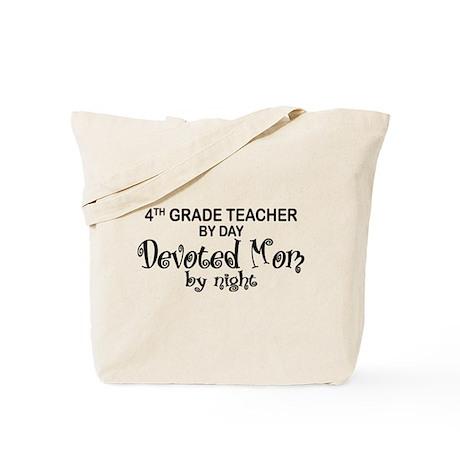 4th Grade Teacher Devoted Mom Tote Bag