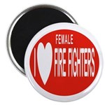 I Love Female Fire Fighters Magnet