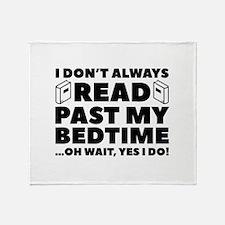 Read Past My Bedtime Stadium Blanket
