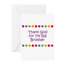 Thank God for My Big Brother Greeting Cards (Pk of