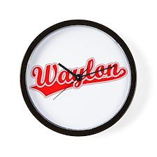 Retro Waylon (Red) Wall Clock