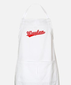 Retro Waylon (Red) BBQ Apron