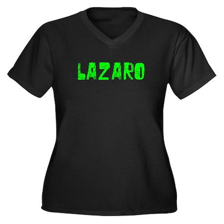 Lazaro Faded (Green) Women's Plus Size V-Neck Dark