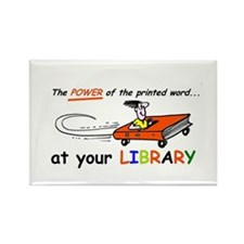 library cartoon special Rectangle Magnet