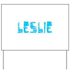 Leslie Faded (Blue) Yard Sign