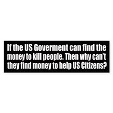 If the US Gov can find $ to kill, why not help?