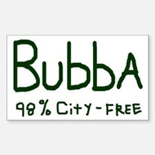 BUBBA City-Free Country Boy Rectangle Decal