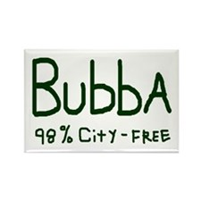 BUBBA City-Free Country Boy Rectangle Magnet