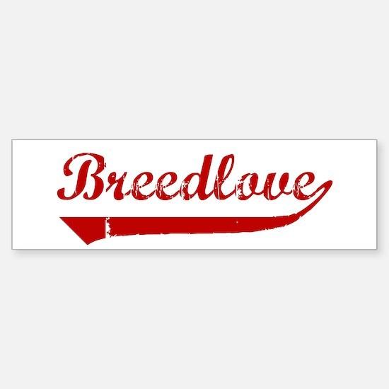Breedlove (red vintage) Bumper Bumper Bumper Sticker