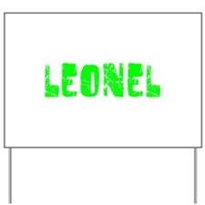 Leonel Faded (Green) Yard Sign