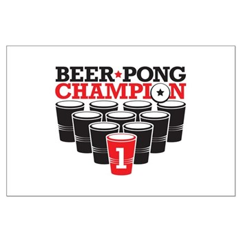 Beer Pong Champion Large Poster