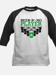 Beer Pong Player Kids Baseball Jersey