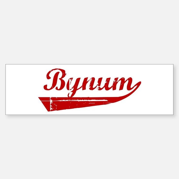 Bynum (red vintage) Bumper Bumper Bumper Sticker