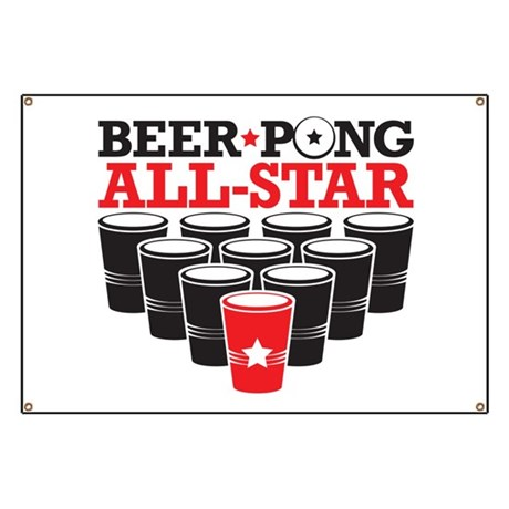 Beer Pong All Star Banner