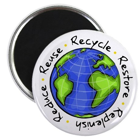 Recycle - Reduce - Reuse - Replenish Magnet
