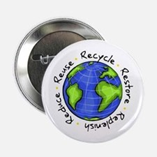 "Recycle - Reduce - Reuse - Replenish 2.25"" Button"