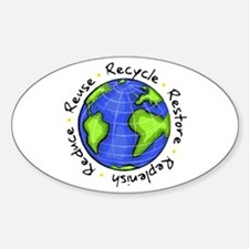 Recycle - Reduce - Reuse - Replenish Bumper Stickers
