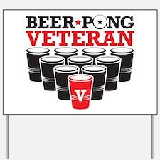 Beer Pong Veteran Yard Sign