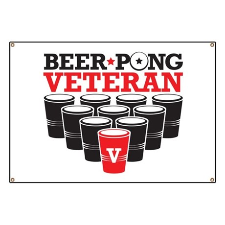 Beer Pong Veteran Banner