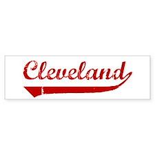 Cleveland (red vintage) Bumper Bumper Sticker