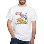 Hanafuda - July - White T-Shirt