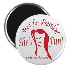2.25 inch RED FOR PRESIDENT Single Magnet